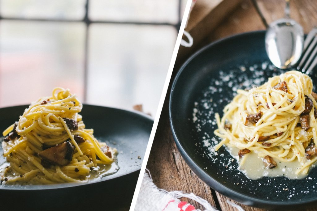 KG x M2S Pasta mit Pilz-Carbonara Rezept